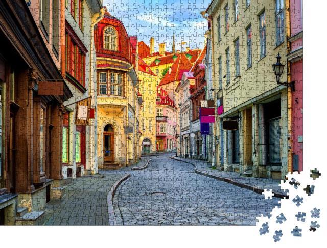 """Puzzle 1000 Teile """"Gasse in der Altstadt von Tallinn, Estland"""""""