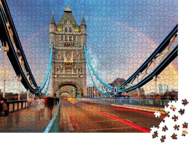 """Puzzle 1000 Teile """"Tower Bridge: Wahreichen von London"""""""