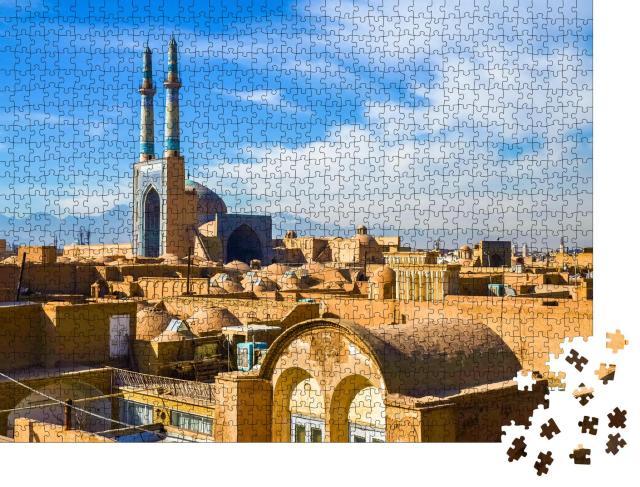 """Puzzle 1000 Teile """"Blick auf das historische Zentrum von Yazd, Iran"""""""