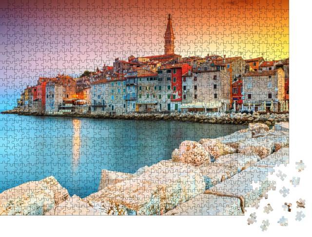 """Puzzle 1000 Teile """"Romantische Altstadt von Rovinj, Kroatien"""""""