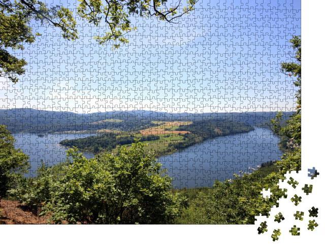 """Puzzle 1000 Teile """"Blick auf den Edersee"""""""