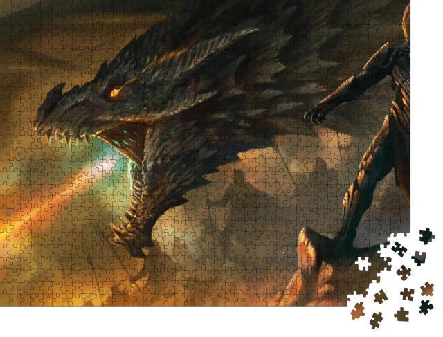 """Puzzle 1000 Teile """"Digitale Kunst: Der Meister der Drachen"""""""