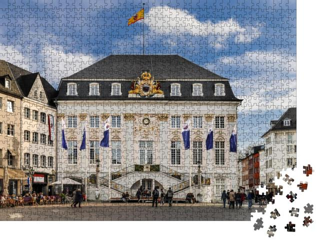 """Puzzle 1000 Teile """"Das Alte Rathaus vom zentralen Marktplatz in Bonn aus gesehen"""""""
