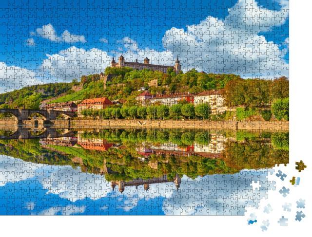 """Puzzle 1000 Teile """"Festung Marienberg und Alte Mainbrücke, Würzburg, Deutschland"""""""