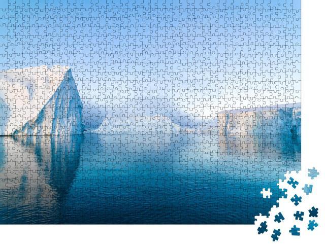 """Puzzle 1000 Teile """"Arktische Eisberge auf dem Arktischen Ozean, Grönland"""""""