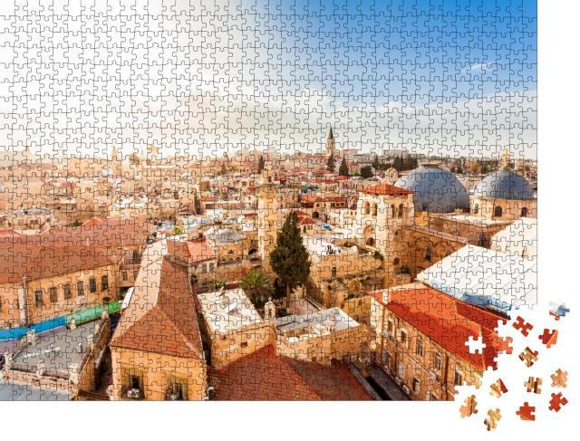 """Puzzle 1000 Teile """"Altstadt von Jerusalem aus der Vogelperspektive"""""""