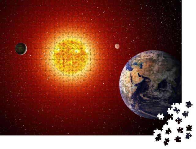 "Puzzle 1000 Teile ""Sonnensystem"""