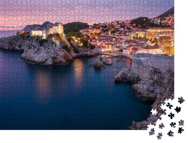 """Puzzle 1000 Teile """"Mittelalterliche Festungen Lovrijenac & Bokar in Dubrovnik, Kroatien"""""""