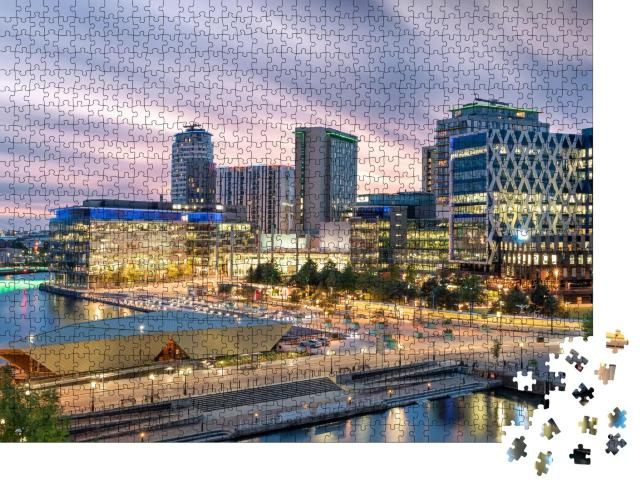 "Puzzle 1000 Teile ""Morgenstimmung: Media City, Salford Quays, Manchester"""