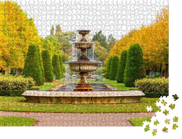 """Puzzle 1000 Teile """"Friedliche Landschaft mit Springbrunnen im Regent's Park von London"""""""