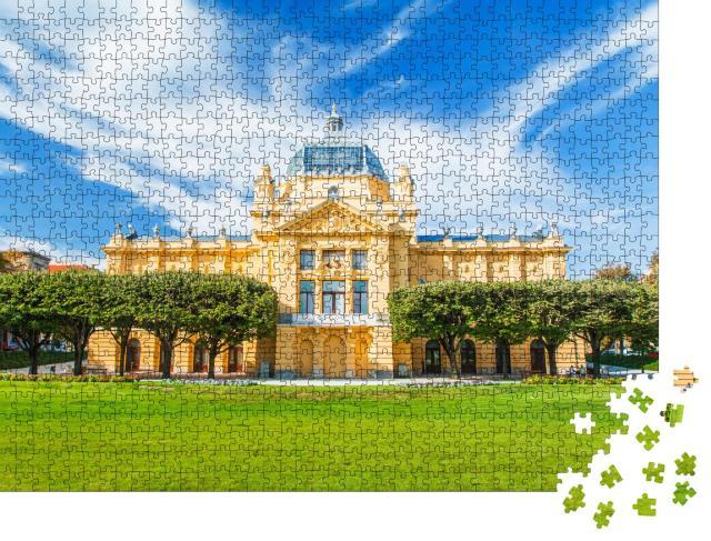 """Puzzle 1000 Teile """"Kunstpavillon in Zagreb, Kroatien"""""""