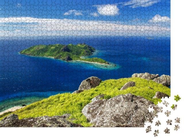 "Puzzle 1000 Teile ""Blick auf Insel Kuata vom Vulkan Vatuvula, Yasawa-Inseln, Fidschi"""
