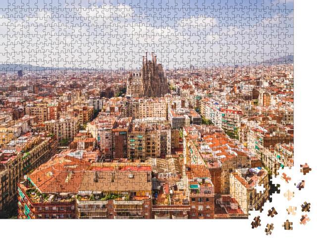 """Puzzle 1000 Teile """"Kathedrale Sagrada Familia und Stadtbild von Barcelona"""""""
