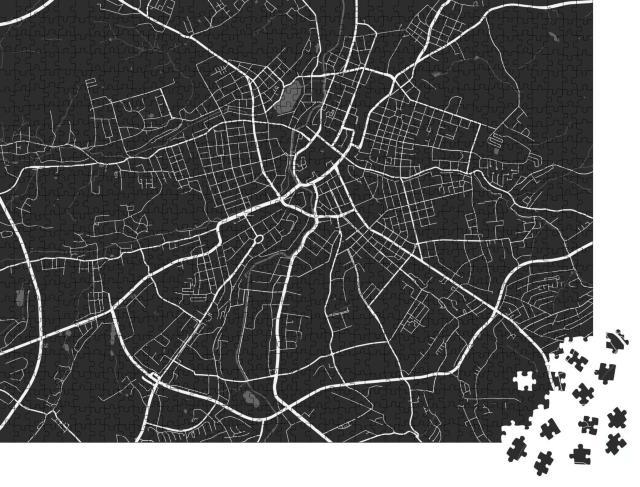 """Puzzle 1000 Teile """"Vektor-Illustration: Stadtplan von Chemnitz"""""""