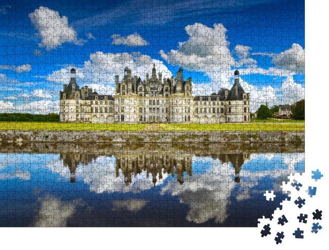 """Puzzle 1000 Teile """"Chateau de Chambord: Schloss im Loire-Tal, Frankreich"""""""