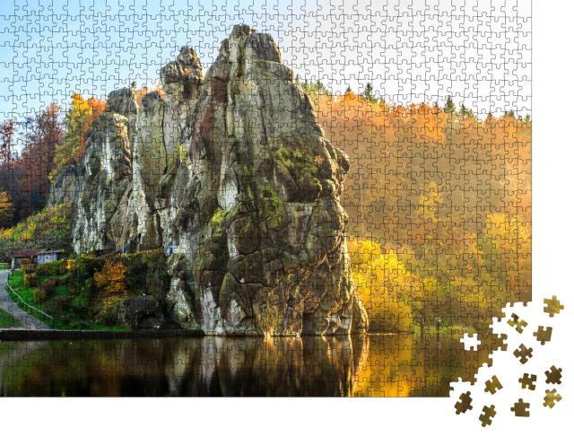 """Puzzle 1000 Teile """"Externsteine, Teutoburger Wald, Nordrhein-Wesfalen, Deutschland"""""""