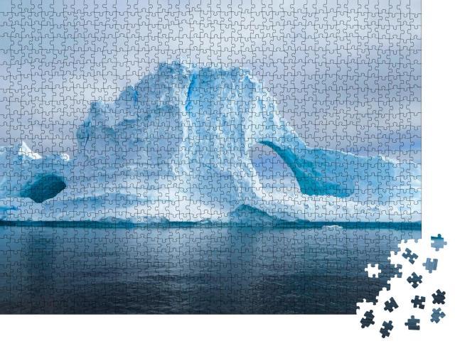 """Puzzle 1000 Teile """"Gletscher und Eisberge der Antarktis aus dem Süden der Erde"""""""