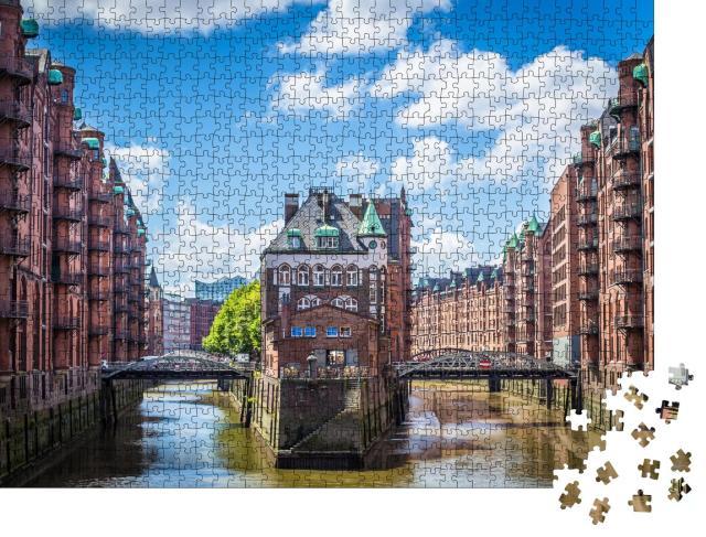 """Puzzle 1000 Teile """"Unesco-Weltkulturerbe: Speicherstadt in Hamburg"""""""