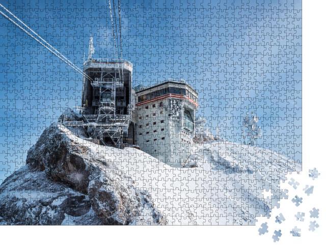 """Puzzle 1000 Teile """"Herrlicher Wintertag auf der Zugspitze"""""""