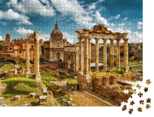"""Puzzle 1000 Teile """"Forum Romanum mit Saturntempel, Rom, Italien"""""""