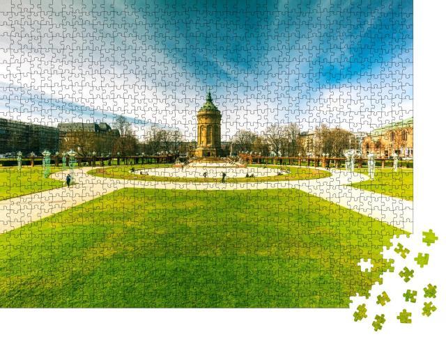 """Puzzle 1000 Teile """"Wasserturm, Mannheim"""""""