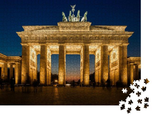 """Puzzle 1000 Teile """"Das beleuchtete Brandenburger Tor in Berlin"""""""