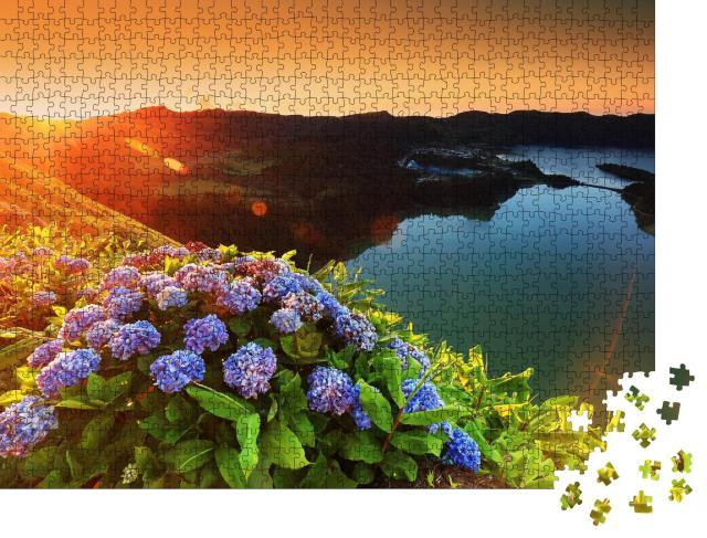 """Puzzle 1000 Teile """"Landschaften von Sete Cidades, Azoren, Portugal"""""""