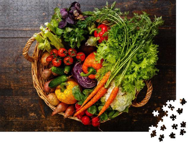 """Puzzle 1000 Teile """"Frisches Gemüse im Korb"""""""