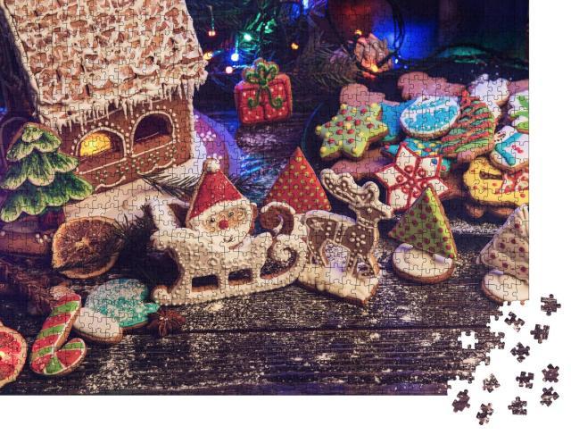 """Puzzle 1000 Teile """"Lebkuchen und Weihnachtsplätzchen"""""""