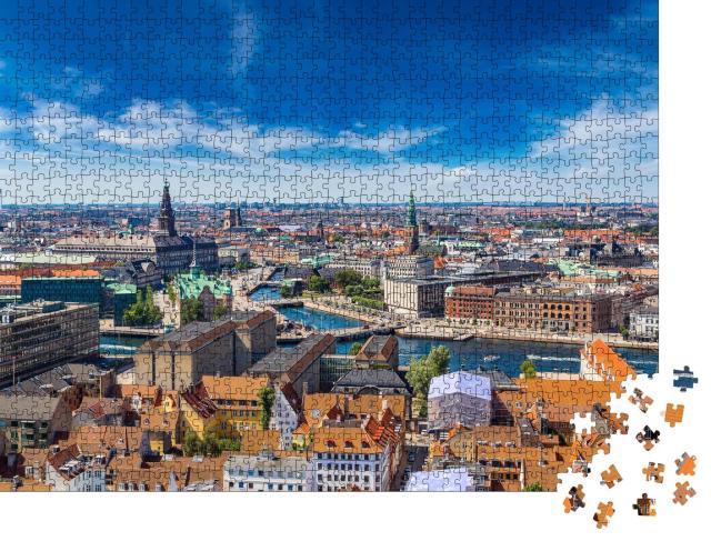 """Puzzle 1000 Teile """"Schöner Sommertag in Kopenhagen"""""""