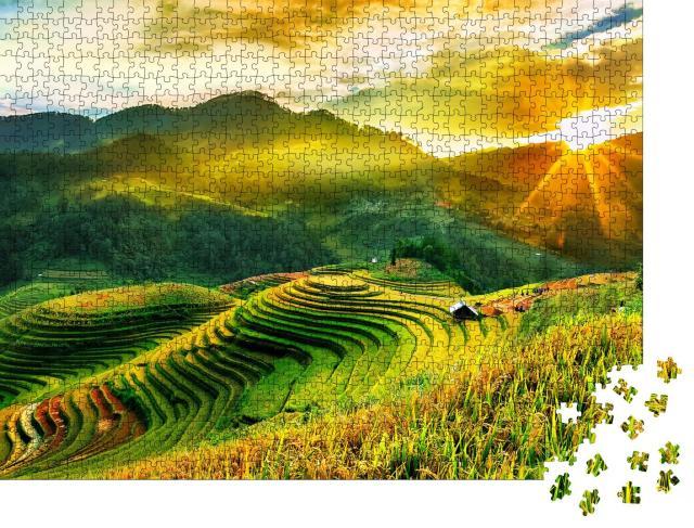 """Puzzle 1000 Teile """"Terrassenartig angeordnete Reisfelder in Vietnam"""""""