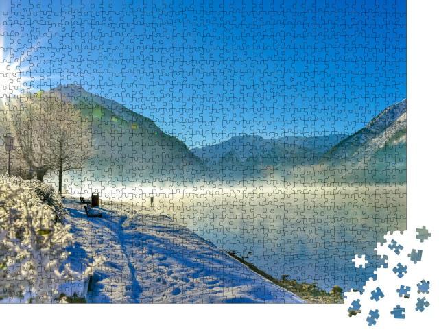 """Puzzle 1000 Teile """"Wunderschöner Achensee im Sonnenaufgang, Österreich"""""""