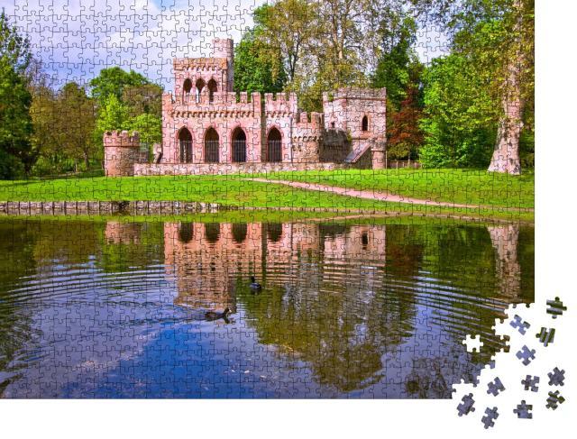 """Puzzle 1000 Teile """"Schloss Biebrich in Wiesbaden, Deutschland"""""""