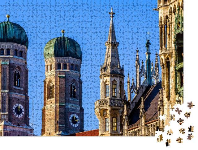 """Puzzle 1000 Teile """"Liebfrauenkirche: Münchner Dom, Deutschland"""""""