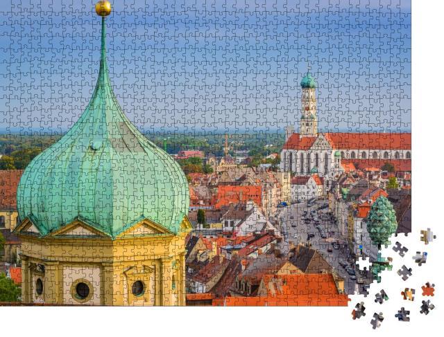 """Puzzle 1000 Teile """"Die Kathedralen von Augsburg, Deutschland"""""""