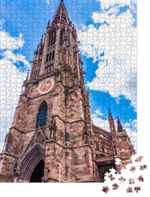 """Puzzle 1000 Teile """"Glockenturm von Freiburg im Breisgau, Deutschland"""""""