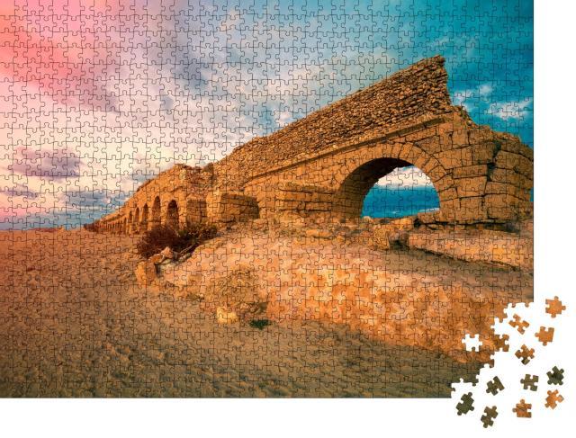 """Puzzle 1000 Teile """"Antikes Aquädukt in Caesarea, Israel"""""""