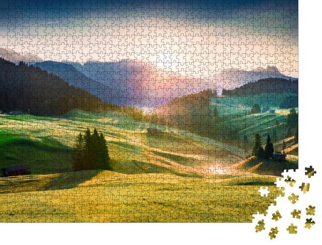 """Puzzle 1000 Teile """"Seiser Alm in der Provinz Bozen, Südtirol"""""""