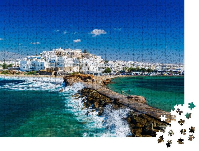 """Puzzle 1000 Teile """"Blick auf Naxos, Kykladen, Griechenland"""""""