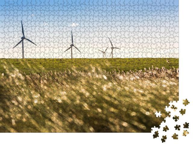"""Puzzle 1000 Teile """"Windräder an der Küste der Ostseeinsel Fehmarn"""""""