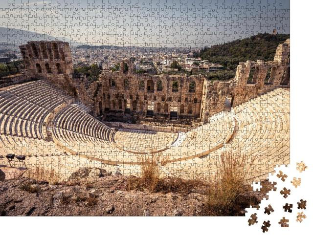 """Puzzle 1000 Teile """"Herodes Atticus auf der Akropolis von Athen, Griechenland"""""""