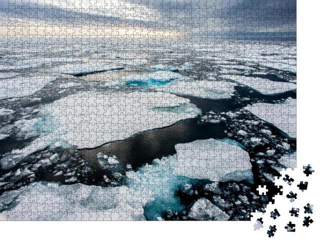 """Puzzle 1000 Teile """"Eisschollen der Arktis schmelzen, Klimawandel"""""""