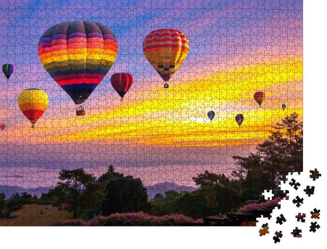 """Puzzle 1000 Teile """"Heißluftballons über Chiang Mai, Thailand"""""""