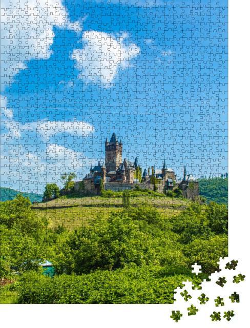 """Puzzle 1000 Teile """"Reichsburg Cochem an der Mosel, Rheinland-Pfalz, Deutschland"""""""