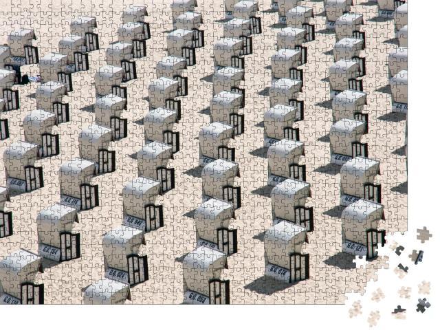 """Puzzle 1000 Teile """"Viele Strandkörbe an der Ostsee in Deutschland"""""""
