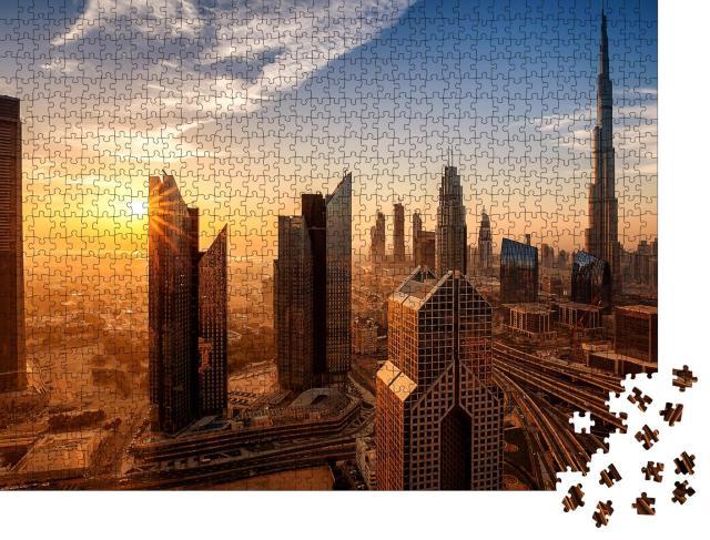 """Puzzle 1000 Teile """"Dubai bei Sonnenaufgang"""""""