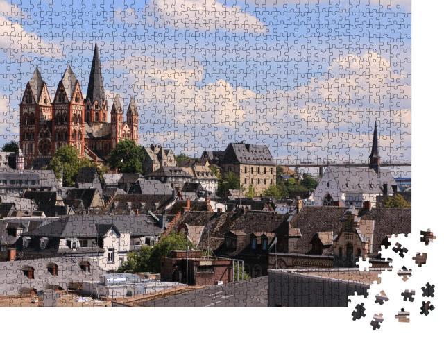 """Puzzle 1000 Teile """"Blick über die Altstadt von Limburg an der Lahn"""""""