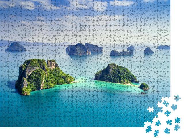 """Puzzle 1000 Teile """"Koh Yao Noi, Phuket, Thailand: Inseln im türkisfarbenen Meer"""""""