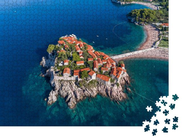 "Puzzle 1000 Teile ""Luftaufnahme des Hotels Sveti Stefan, Montenegro"""
