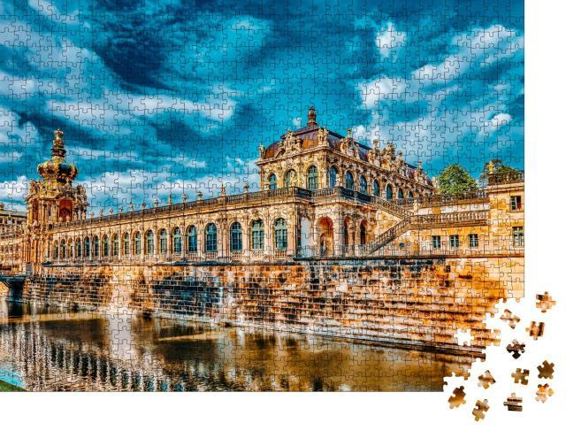 """Puzzle 1000 Teile """"Zwingerpalast: Dresdner Zwinger, Sachsen, Deutschland"""""""